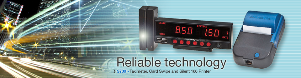 S700 Taximeter, Card Swipe and Silent 160 Printer